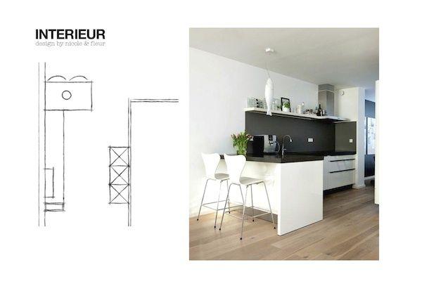In mijn oude huis had onze keuken een klein schiereiland met een lengte van het eiland - Moderne keuken in het oude huis ...