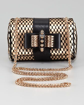 46cee7f87e4 Christian Louboutin Sweet Charity Satin-Lace Clutch Bag ...