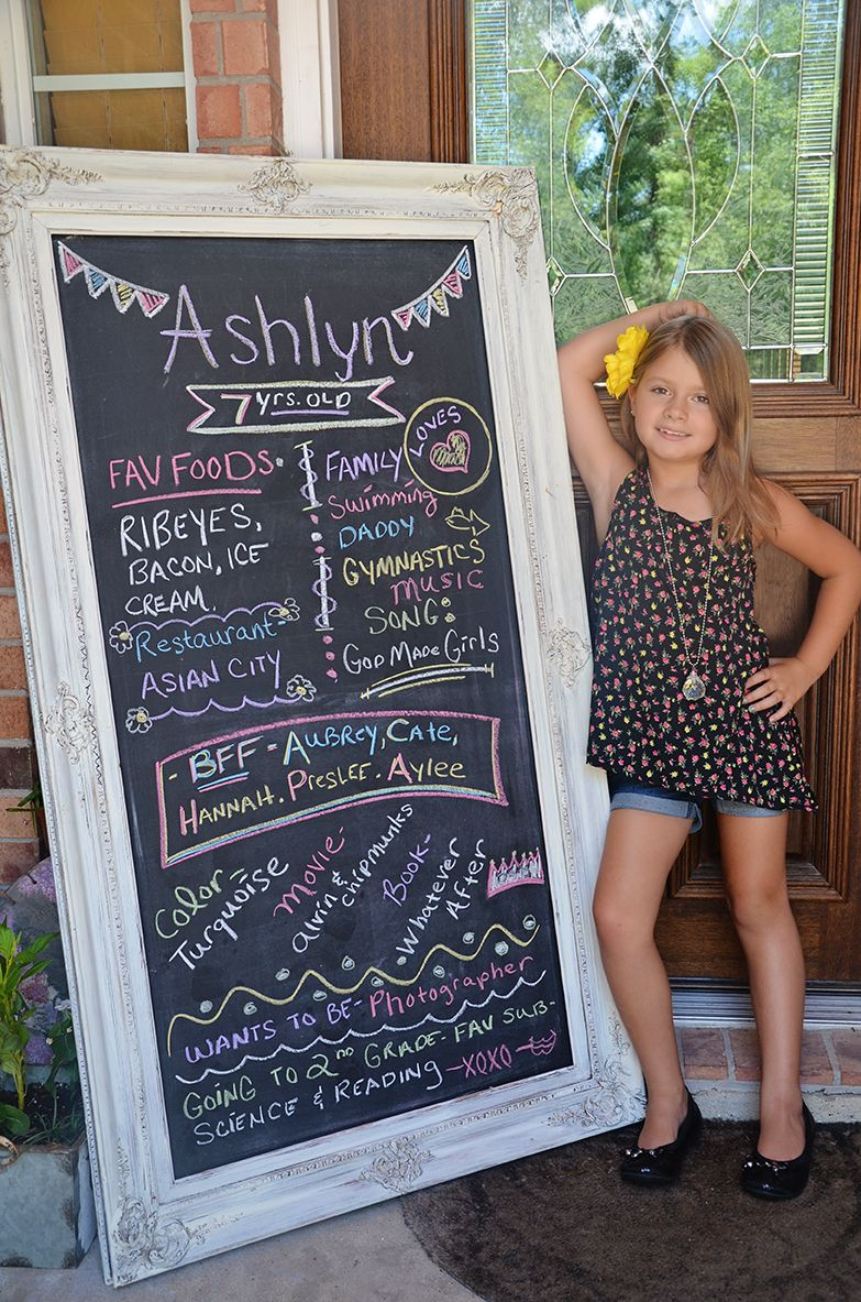 Not Just For 1 Yr Olds Chalk Board Memories For An Age -2705