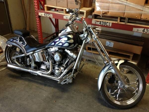 2005 harley davidson chopper chopper silver with flames 3 505 miles for sale in irving tx. Black Bedroom Furniture Sets. Home Design Ideas