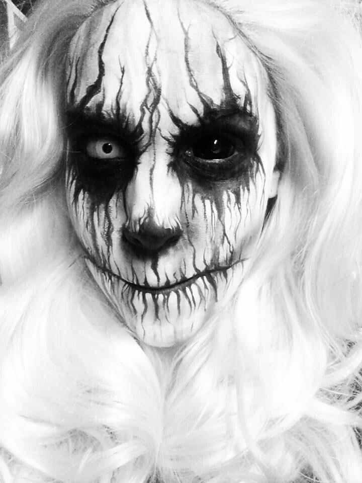 Demon Facepaint By Asseenonstevie On Deviant Art Creepy Halloween Makeup Crazy Halloween Makeup Face Painting Halloween