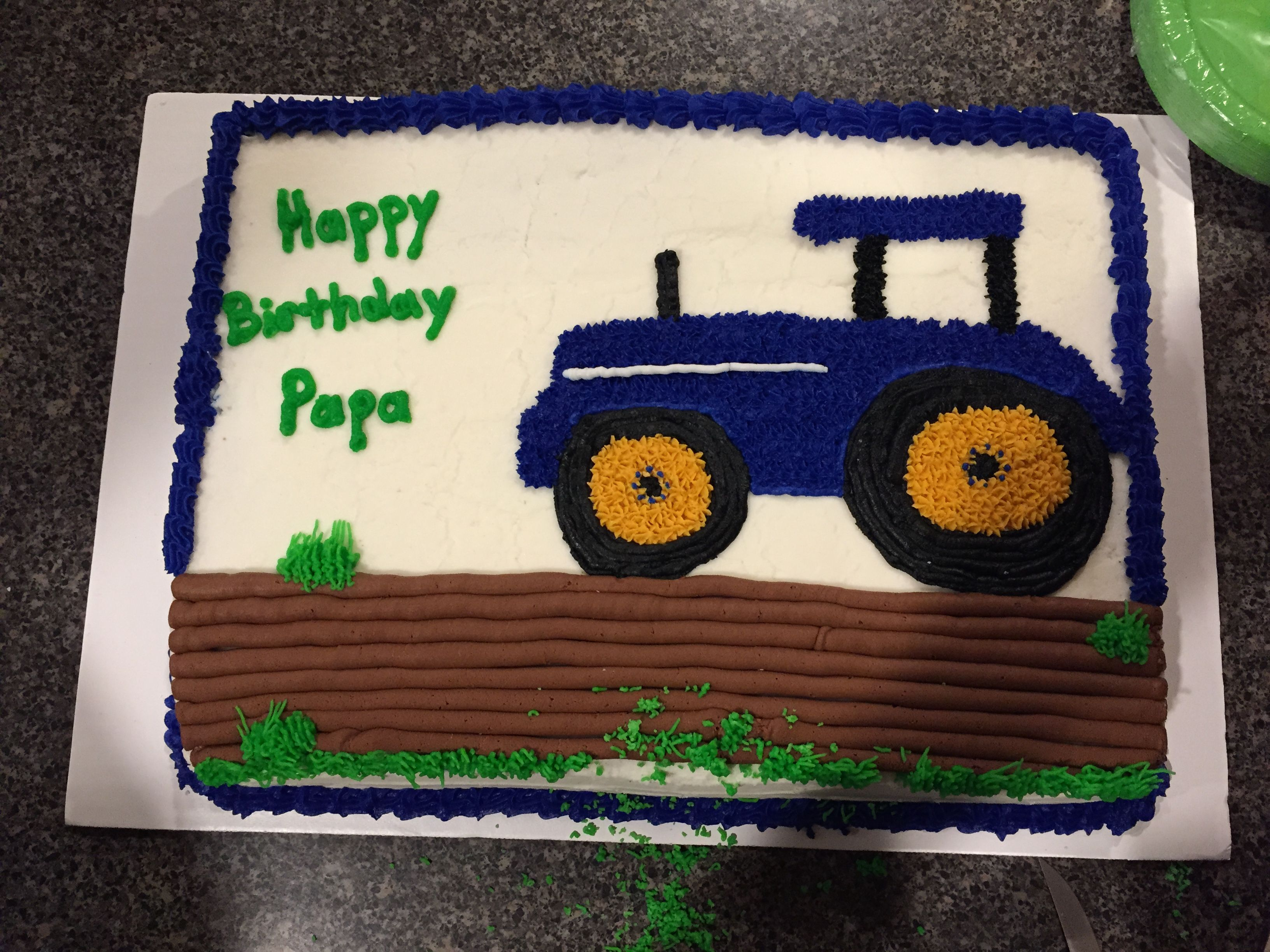 papa 39 s new holland tractor cake cakes cupcakes pinterest. Black Bedroom Furniture Sets. Home Design Ideas