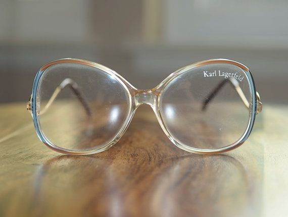 f4d2a123cc Vintage Karl Lagerfeld Large Round Eyeglasses with demo lens NOS ...