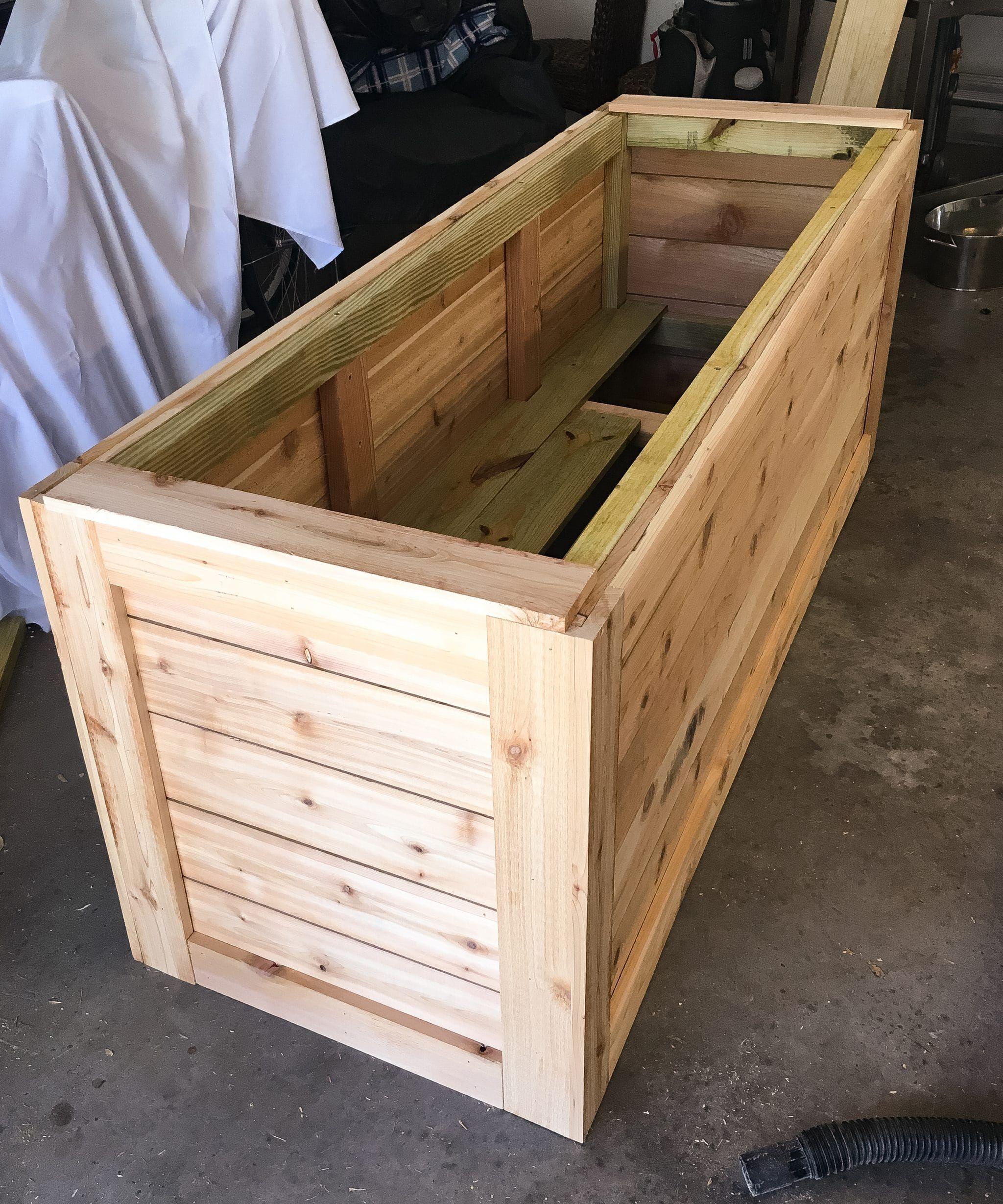 Backyard diy series part iiii cedar wood planter box
