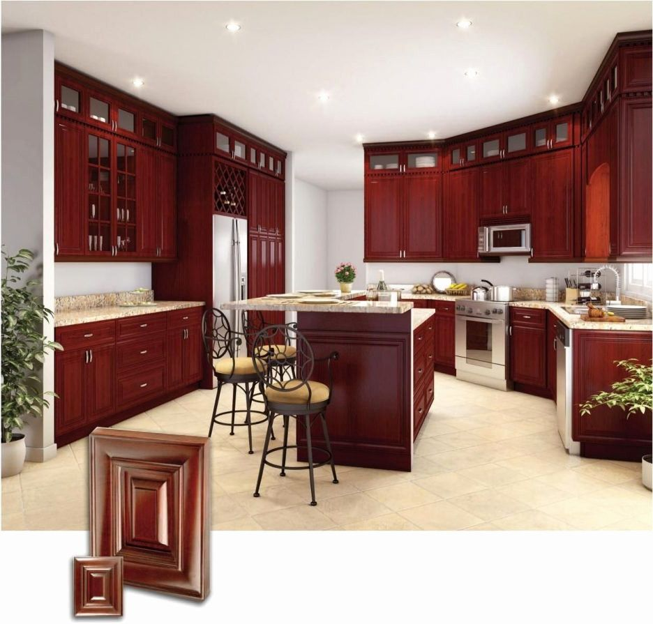 Image result for red cherry kitchen with white floor ...