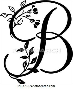 Letter B Script Stock Illustration Clipart Free Clip Art Images Letter B Lettering Stencil Stickers