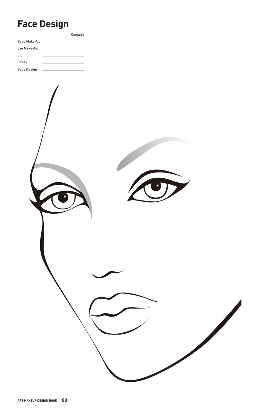 Free Printable Face Charts For Makeup Makeup Face Charts Face