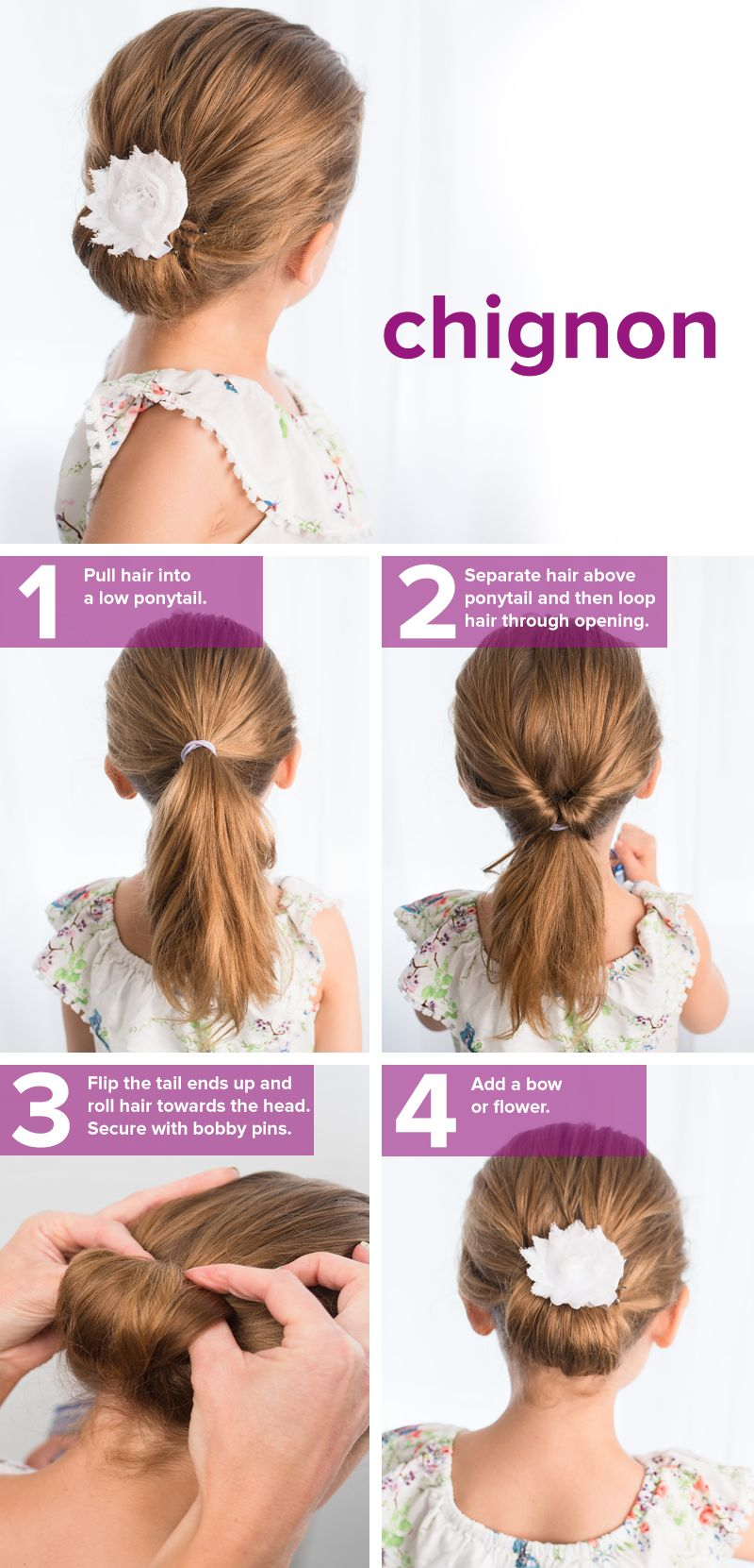 Quick Hairstyles For Long Hair Inspiration 5 Fast Easy Cute Hairstyles For Girls  Pinterest  Chignon Hair
