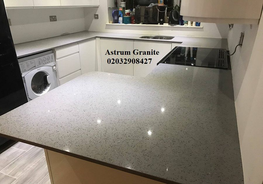 Get Online Grey Starlight Quartz Kitchen Worktop At Your Price In Uk Best Solutions For Your Kitchen Call Us Quartz Kitchen Kitchen Worktop Home Appliances