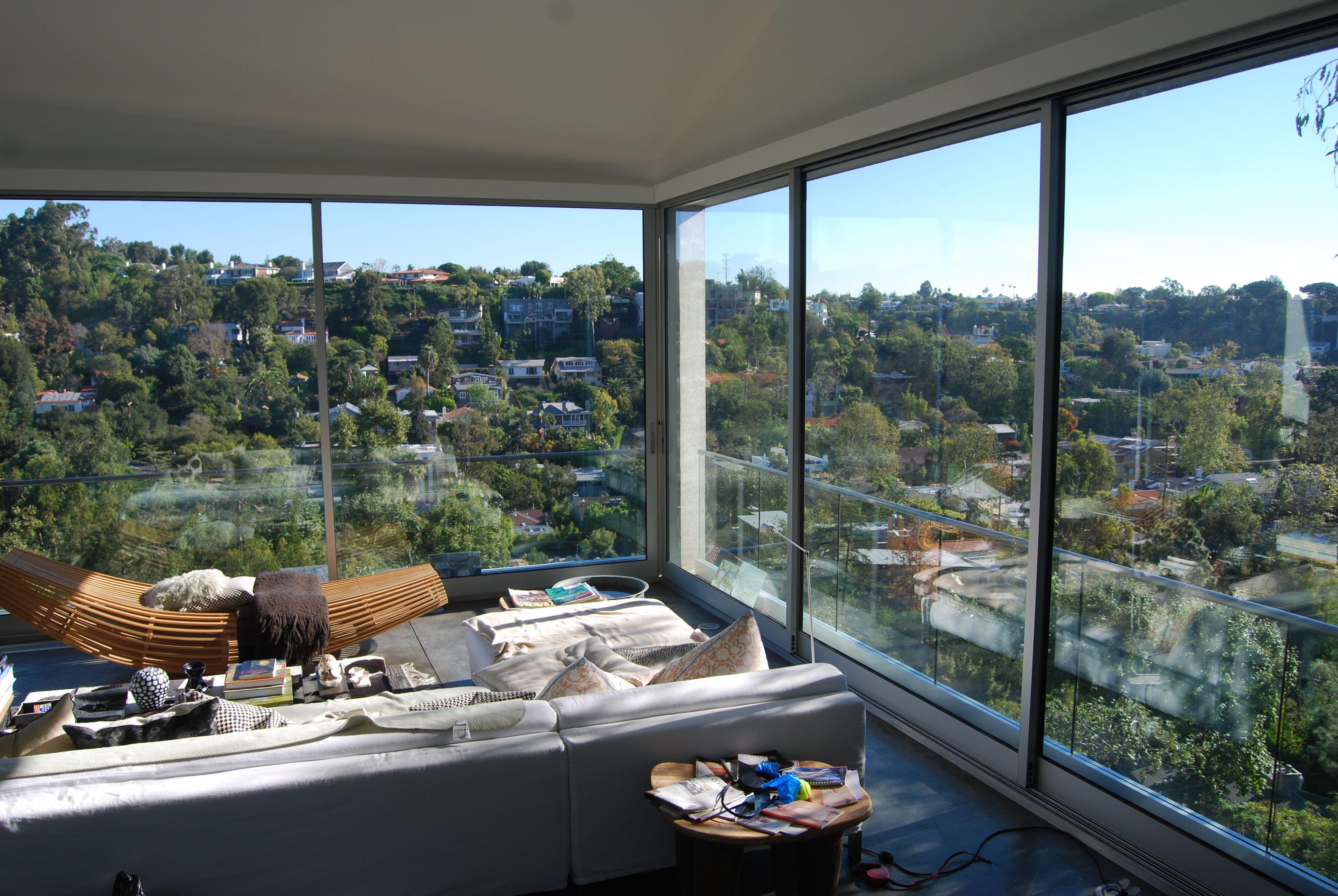 Chan Luu's Los Angeles home. amazing view. mountain view. huge windows. california houses.   California real estate. California homes. Los angeles ...