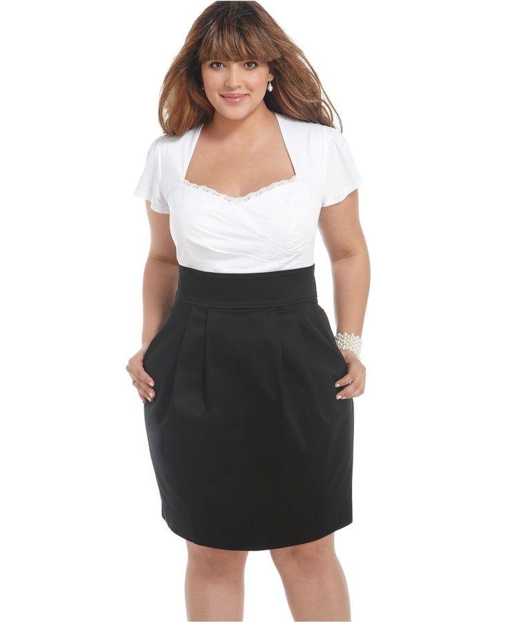 awesome party dresses trixxi plus size dress, short sleeve