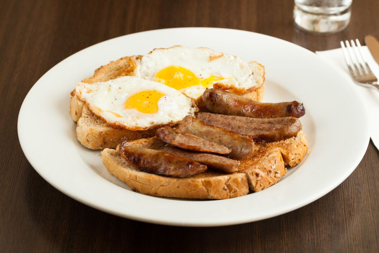 Toasties - Sausages and Egg