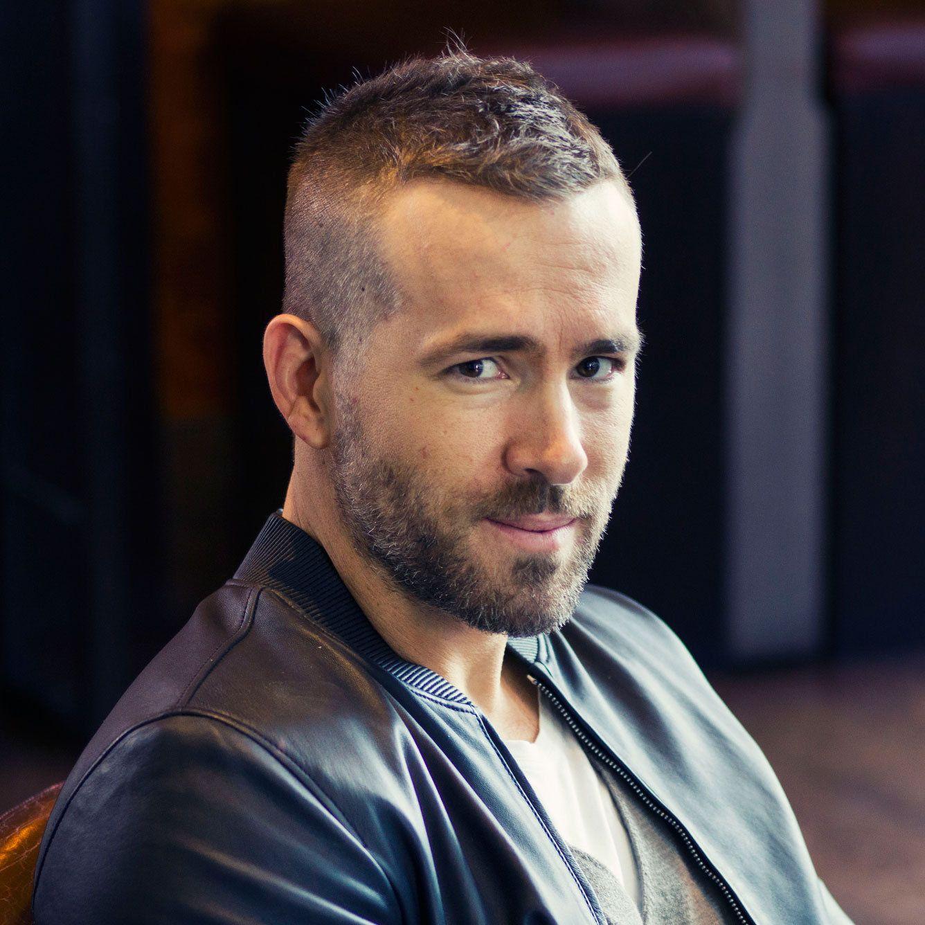 Ryan Reynolds Deadpool Haircut A Short Ivy League With A Textured