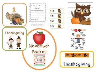November Packet from Learning is for Superstars