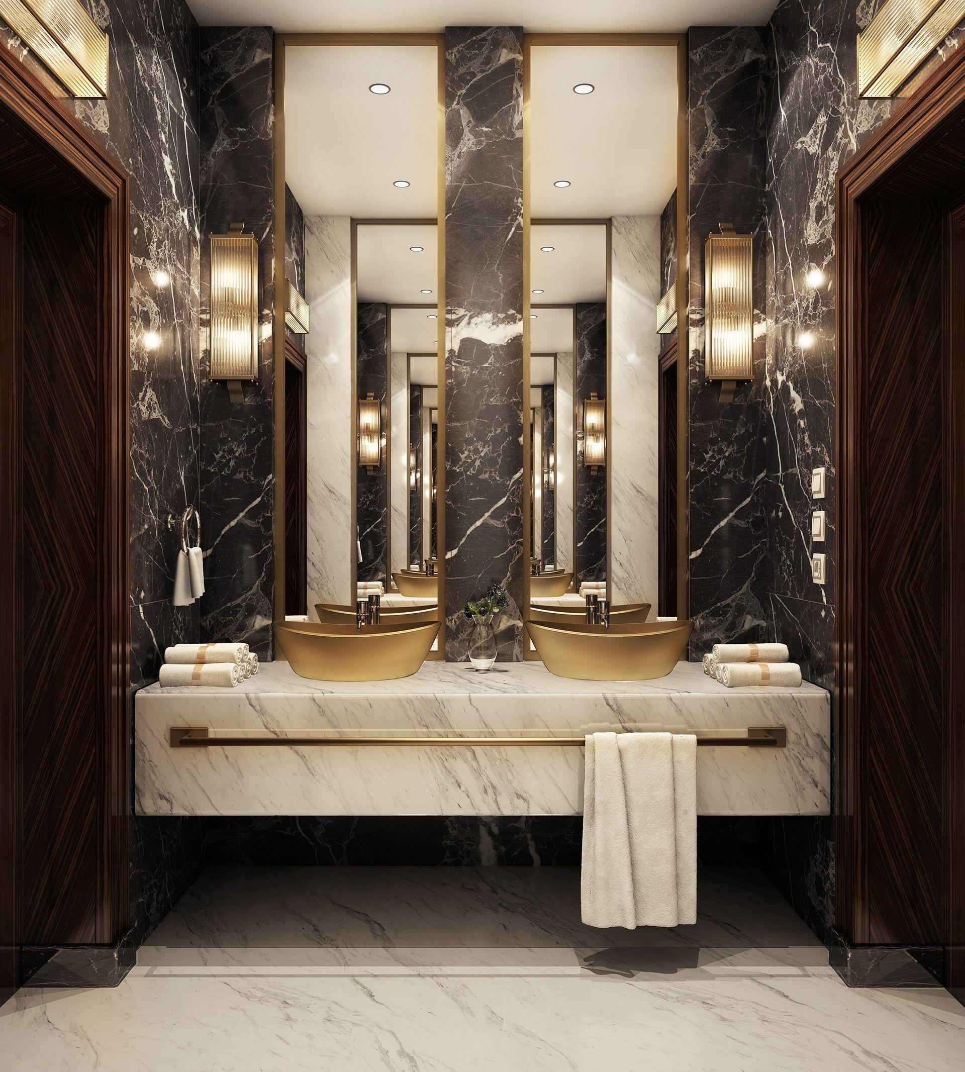Modern Luxury Bathroom On Behance Modern Luxury Bathroom Bathroom Design Luxury Luxury Bathroom Master Baths