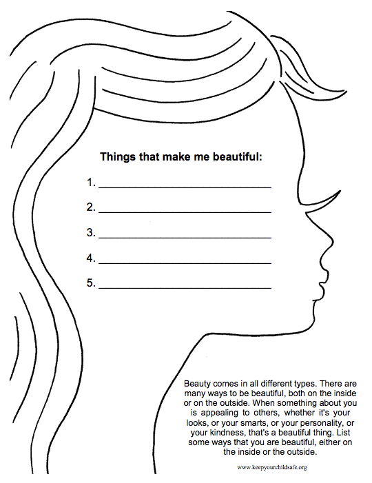 Types Of Beauty Worksheet