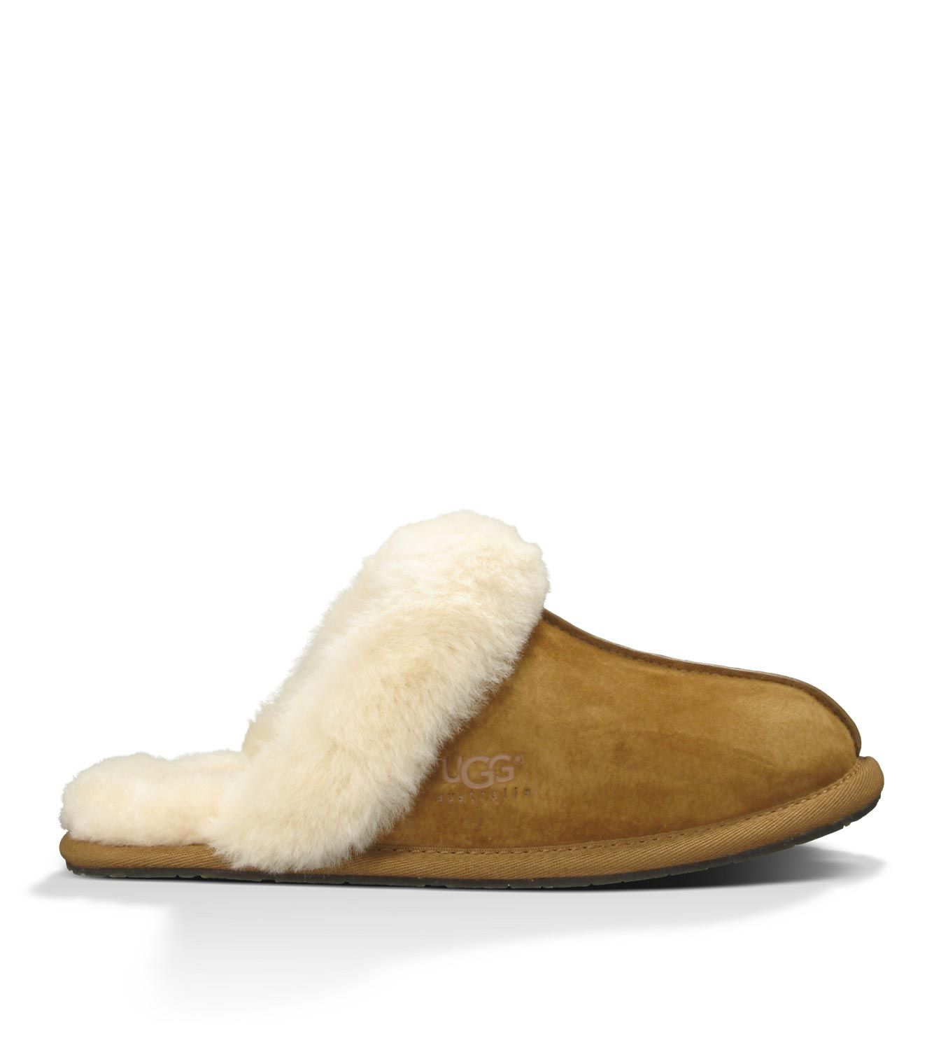 Clearance Womens Casual Shoes - UGG Scuffette II Chestnut (Suede)