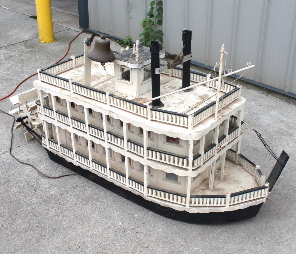 RIVERBOAT RACE Dollhouse Picture MADE IN AMERICA Miniature Art FAST DELIVERY