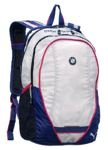 PUMA Adult BMW Motorsport Backpack, White Medieval Blue PUMA.  54.99. Save  15%! 67a26a942b