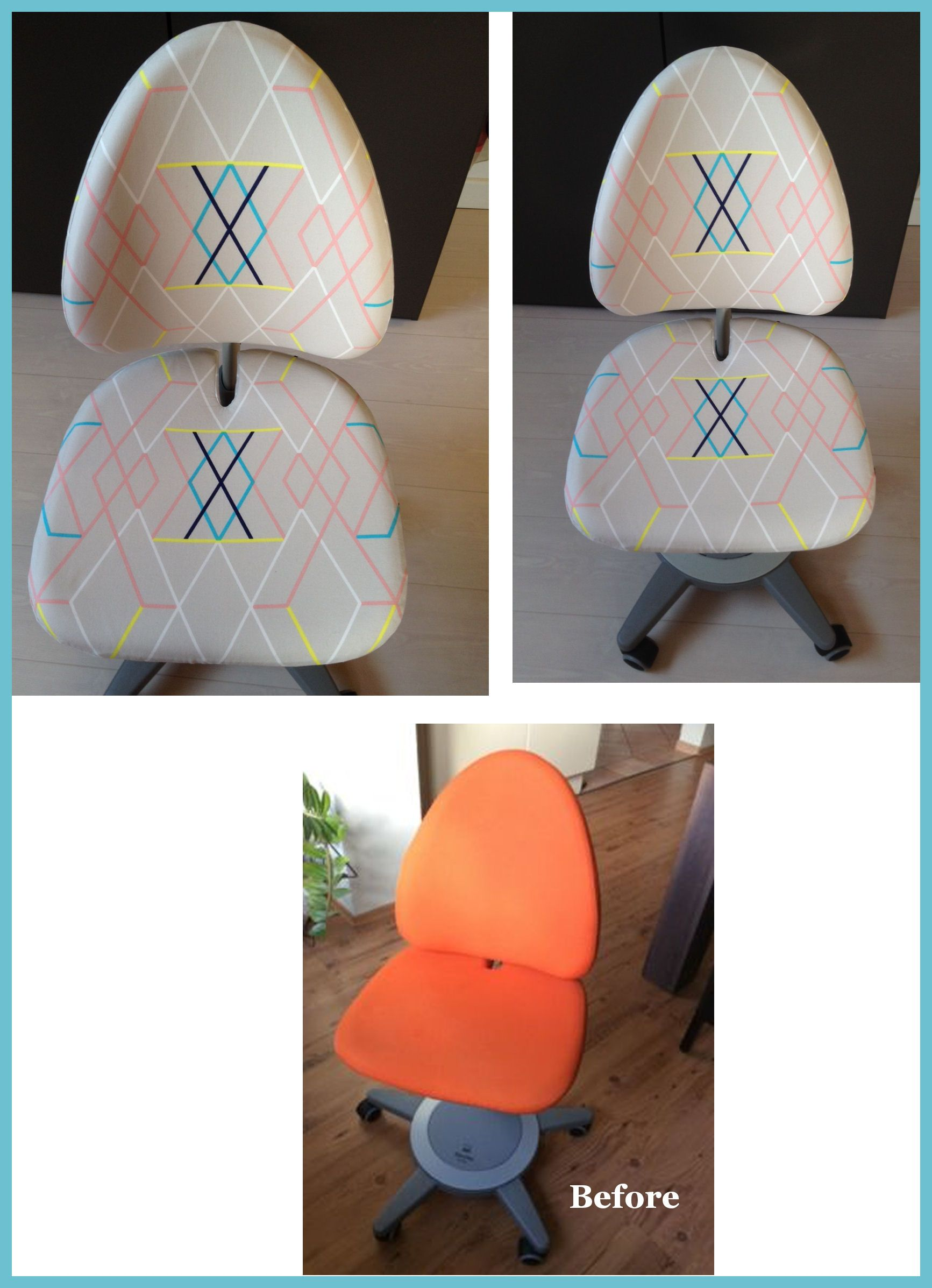 Moll Maximo Forte Desk Chair With Ikea PS 2014 Fabric Covers. / MOLL  Schreibtischdrehstul Maximo