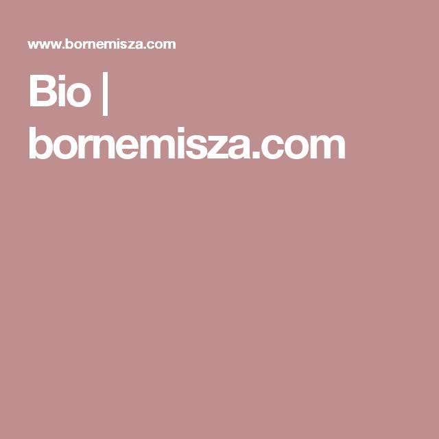 Bio | bornemisza.com