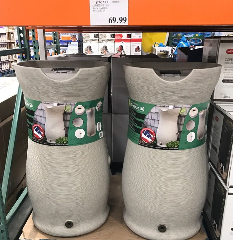 cb4bfc7bb64 What to Expect at Costco (March - Thrifty and Thriving. rain barrrels from  Costco, 69.99