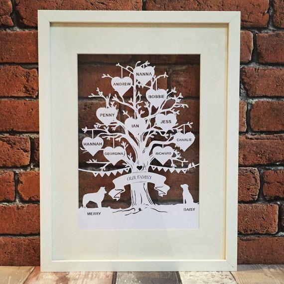 Diy Family Tree Papercutting Template Papercut Your Own Beautiful