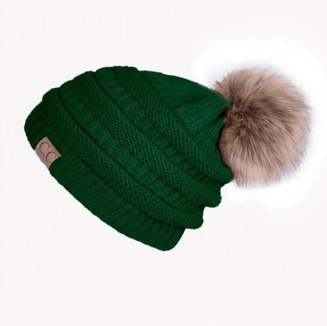 Women Girl  S Hat Knitted Beanies Cap Hat Skullies Beanies ... 835d0bb8a5b