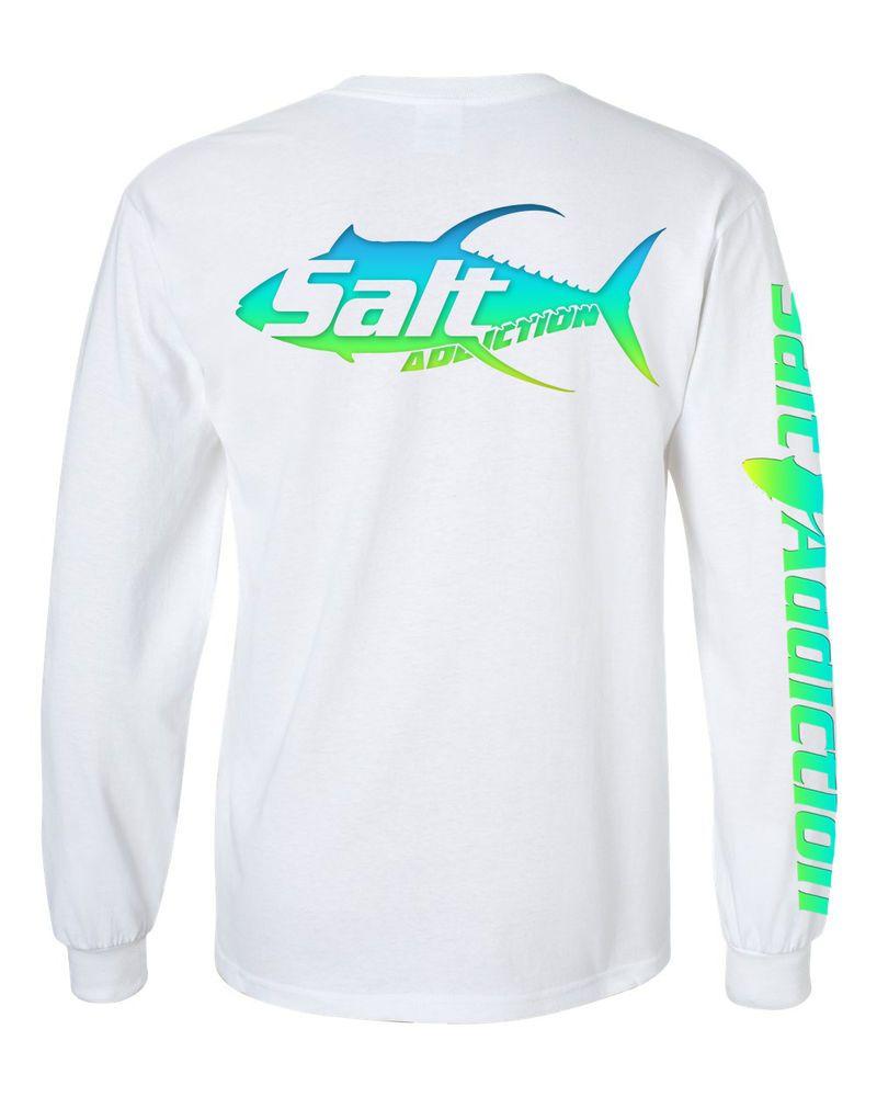 Salt Addiction long sleeve saltwater fishing t shirt cotton poly quick dry