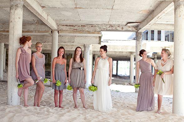 Tan Bridesmaid Informal Wedding Dresses