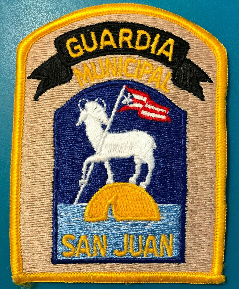 Puerto Rico San Juan Guardia Municipal Police Pr Patch San Juan Puerto Rico Puerto Rico Police