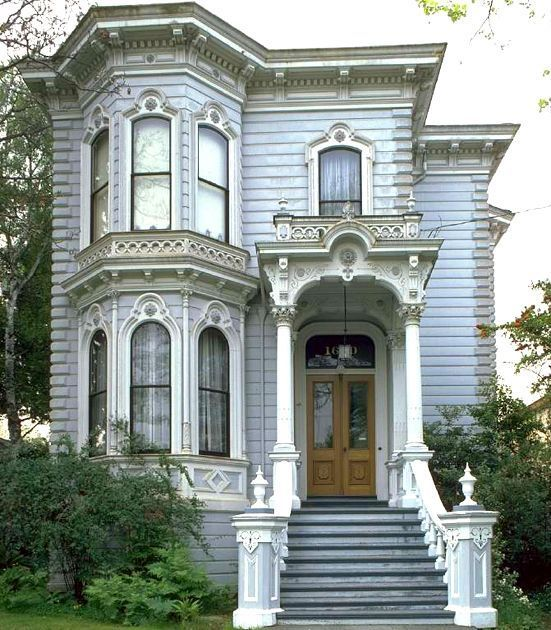 French 1800s victorian style home with full roof ledge for Victorian style modular homes