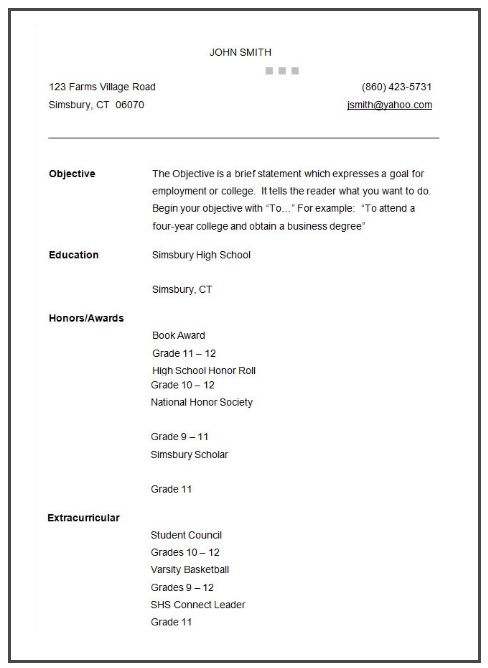 10+ College Student Resume Templates Student resume