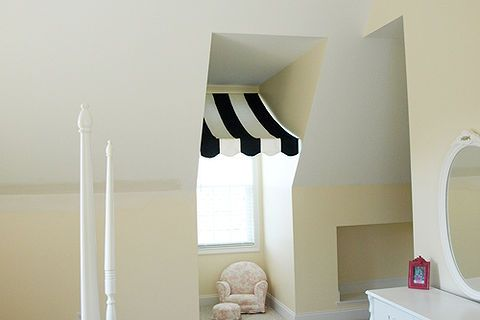 easy dormer window treatment, home decor, window treatments, windows doors