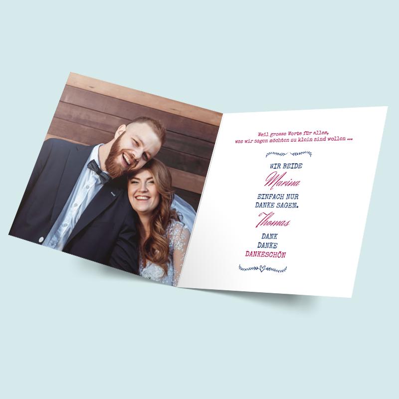 FotoDankeskarten zur Hochzeit Wir beide  Dankeskarten