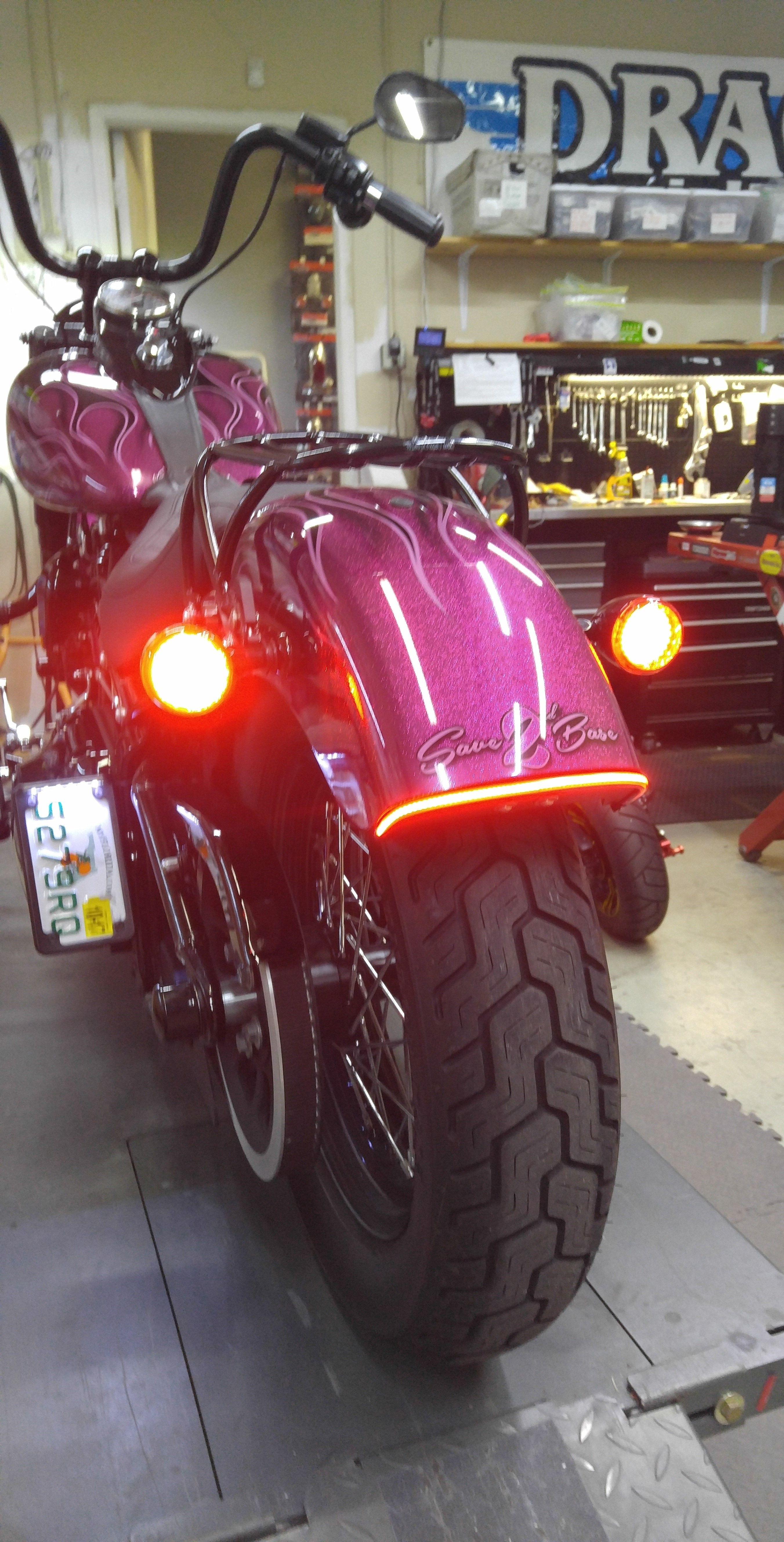 Rear Led Upgrade 2016 Softail Slim Installed A Pair Of Red 1157 Bullet Style Led Turn Signal Clusters Al Motorcycle Lights Custom Bikes Cafe Racers Motorcycle