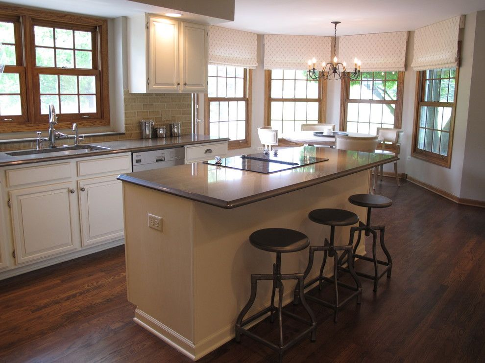 White Cabinets Find Any Oak Trim Kitchen Traditional With Grey Glaze Chicago And Product By