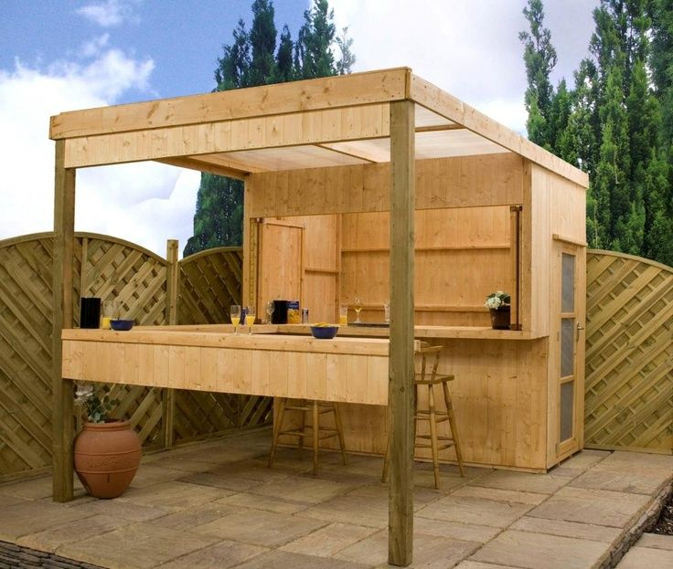 Outdoor bar shed ideas building design for pergola for Wood outdoor bar ideas