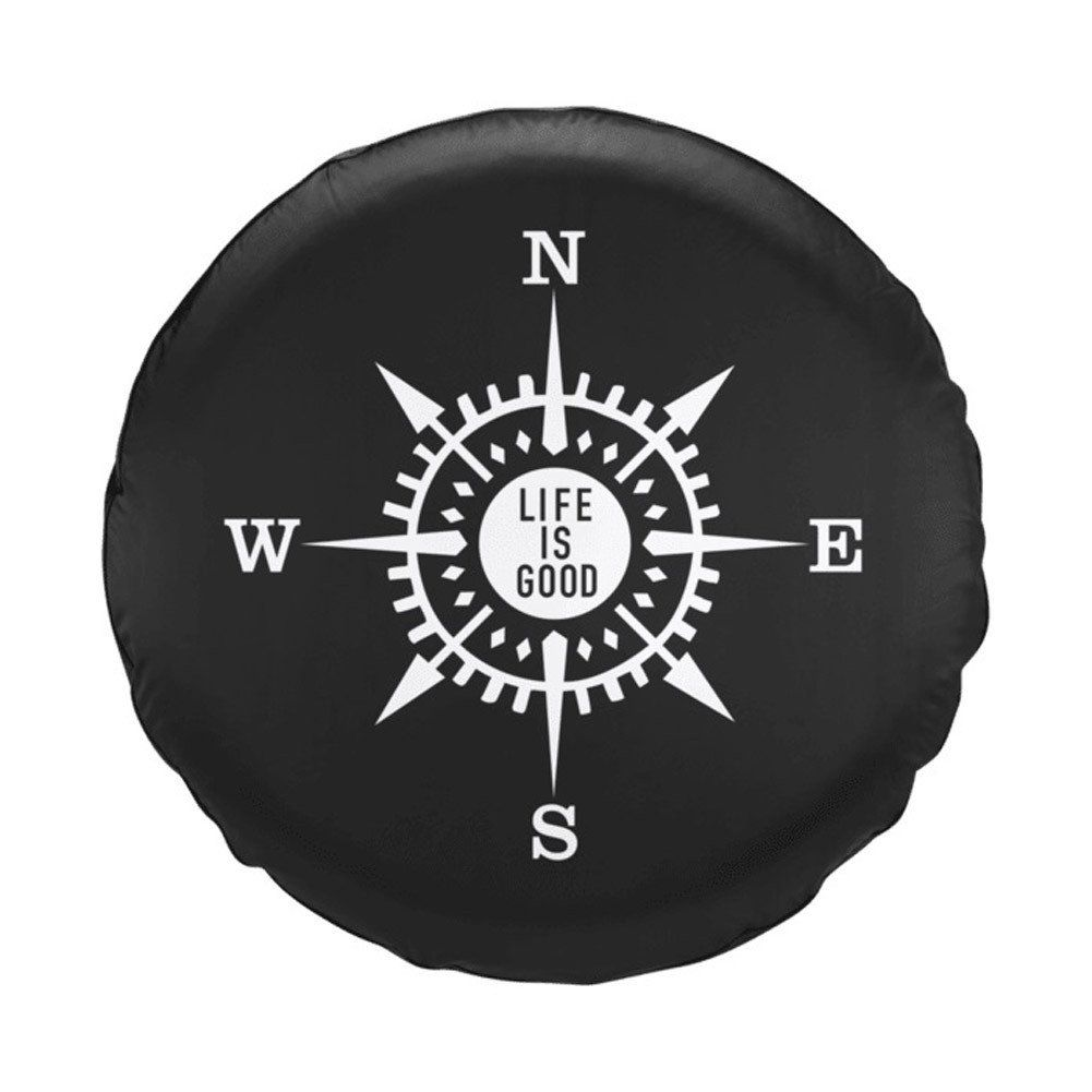 Life Is Good Compass Tire Cover By Life Is Good Jeep Tire Cover