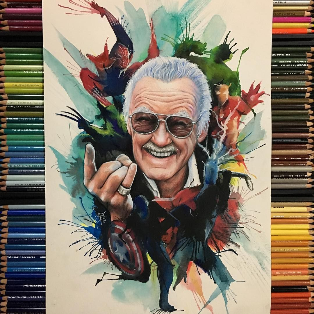 d3f6f96e Stan Lee drawing by Sam Ding | The World Need Heroes | Marvel comics ...