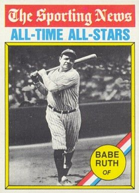 1976 Topps Babe Ruth 345 Baseball Card Value Price Guide Babe Ruth Baseball Cards Baseball Card Values
