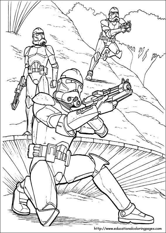 starwars coloring picture | Kid\'s Crafts | Pinterest | Starwars ...