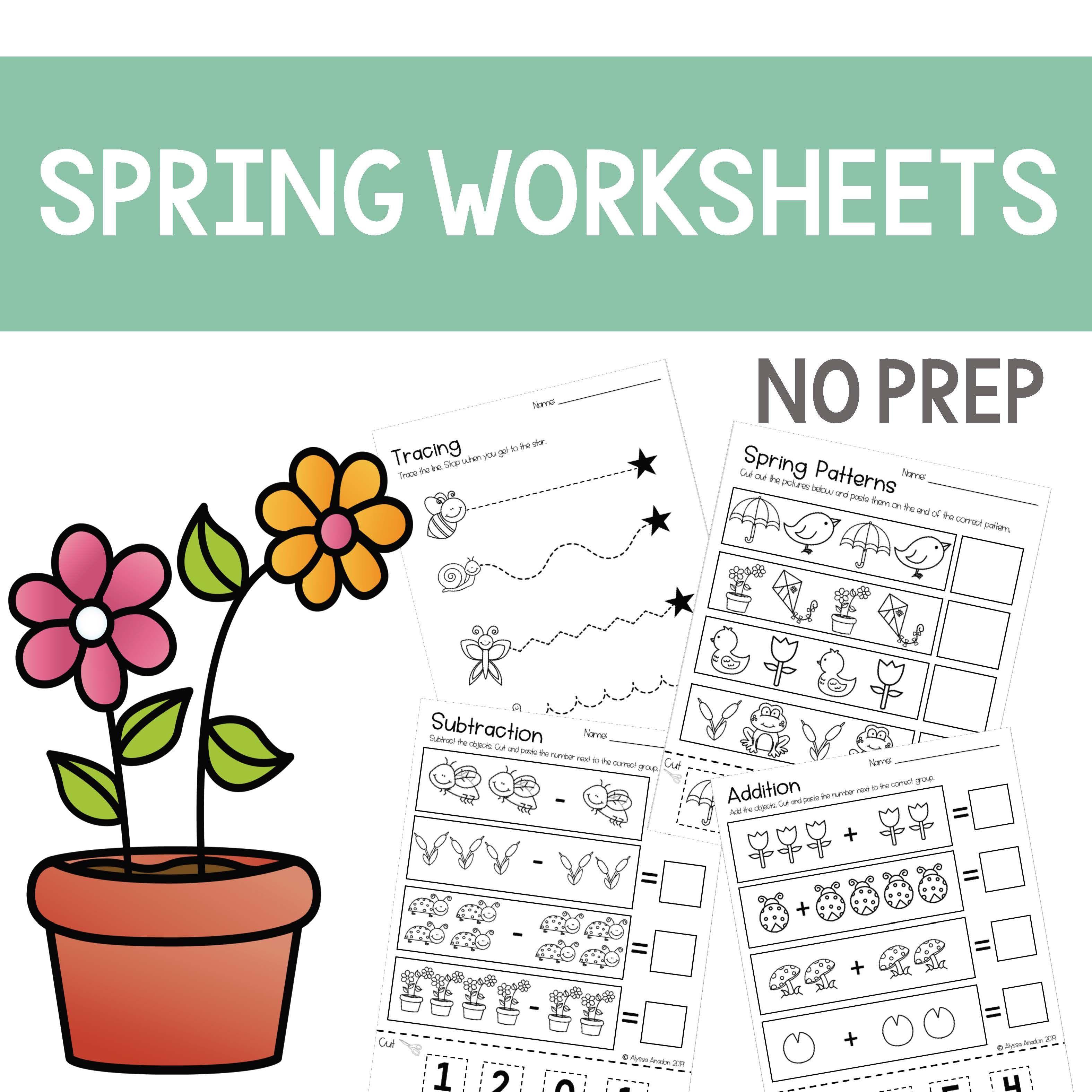 Spring Worksheets No Prep Great For Distance Learning Spring Worksheet Spring Worksheets Kindergarten Kindergarten Special Education [ 3150 x 3150 Pixel ]