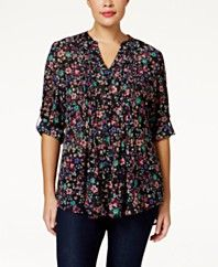 American Rag Plus Size Floral-Print Blouse, Only at Macy's