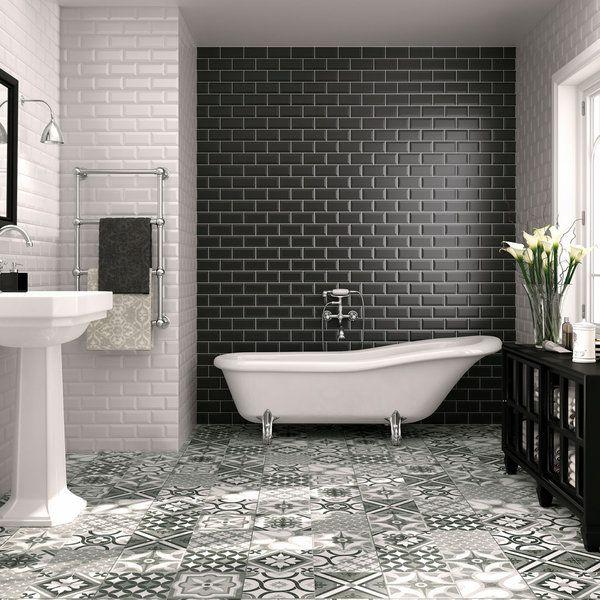 Suelos de mosaico hidr ulico casita ba os azulejos ba o y azulejos - Azulejos suelo bano ...