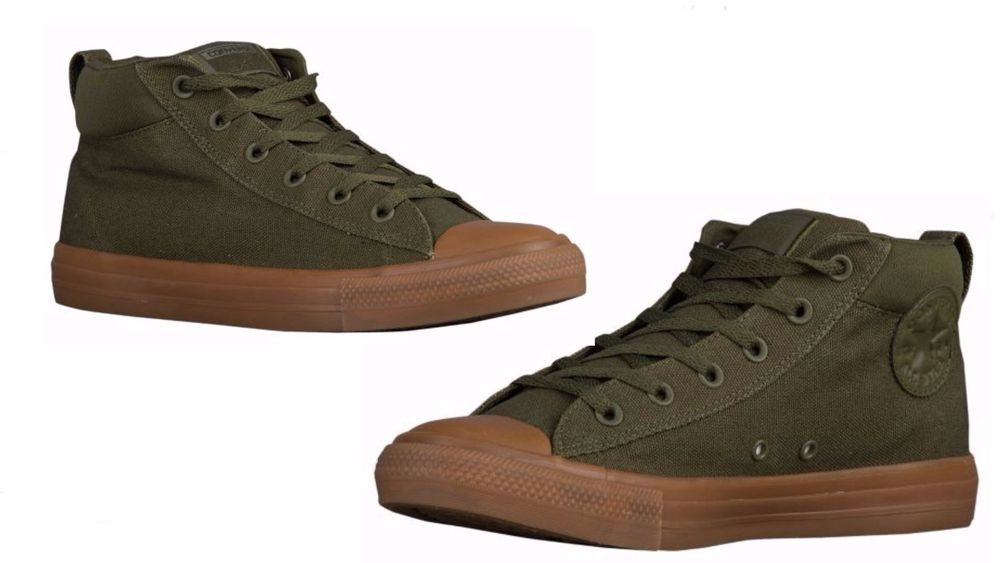 b6bf1232cd4b Converse MEN S ALL STAR STREET MID Herbal Dark Honey Dark Honey 155709C   converse  155709C