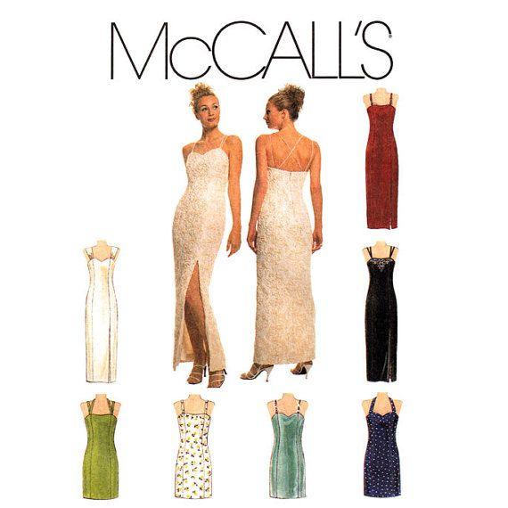 Womens Evening Dress Pattern McCalls 8711 by finickypatternshop ...