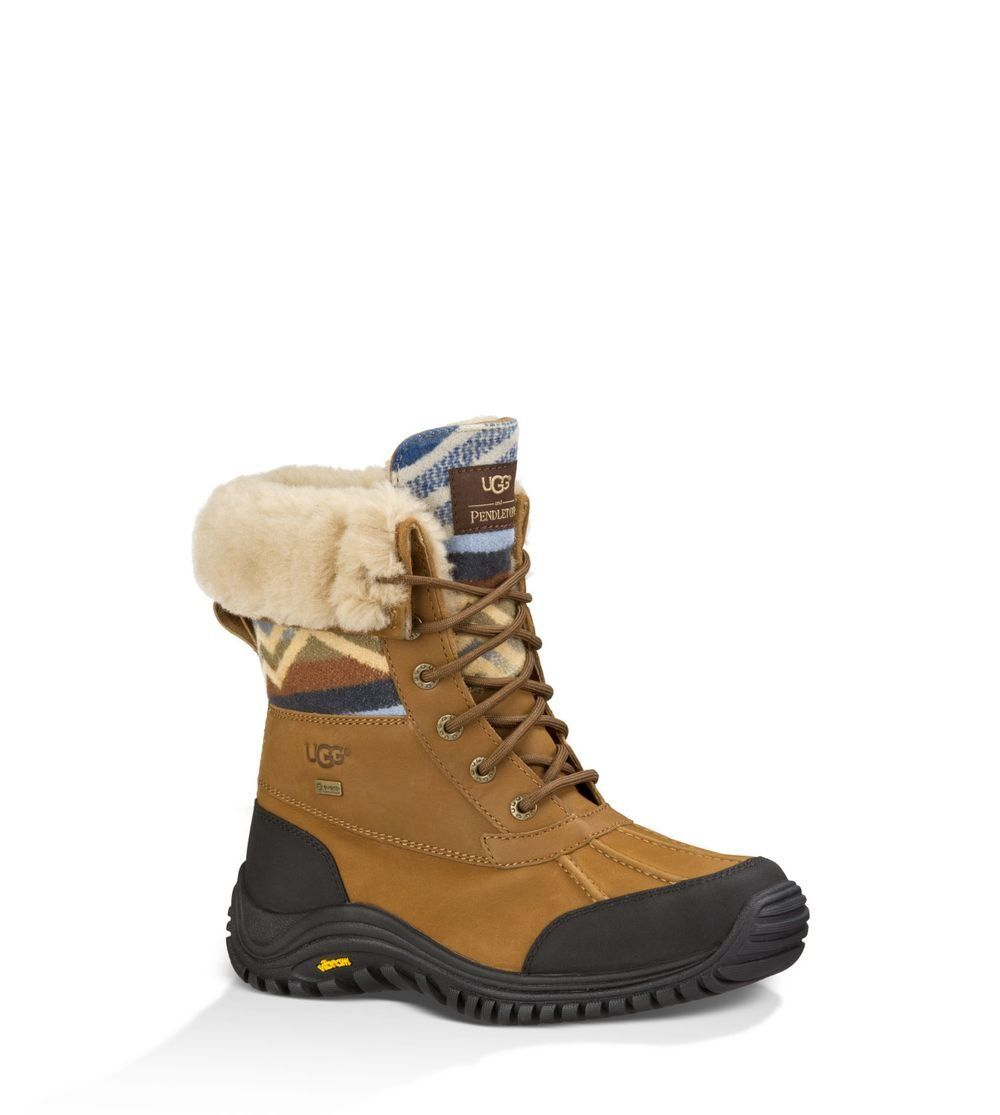 Amazon.com: UGG Australia Women's Adirondack Pendleton Leather Boot: Shoes