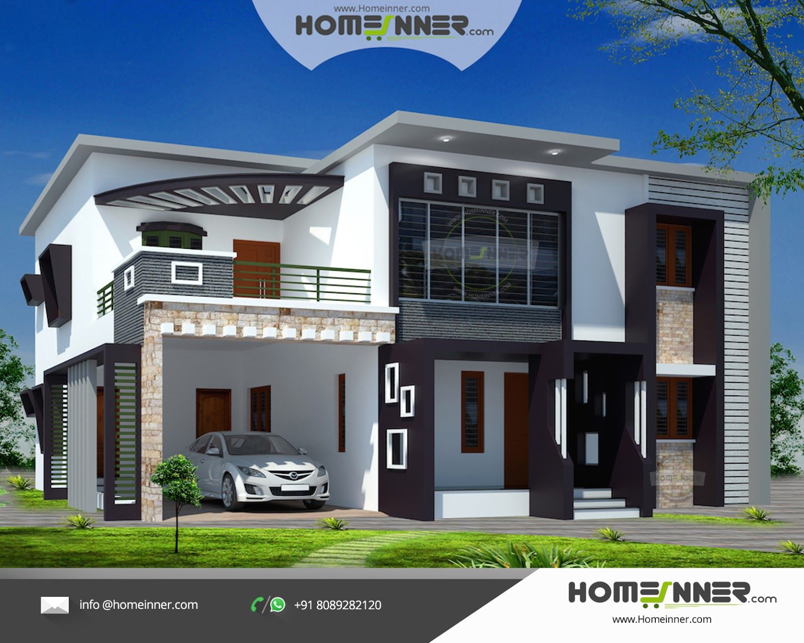 Design Homes Com Double Storey Elevation  Two Storey House Elevation  3D Front