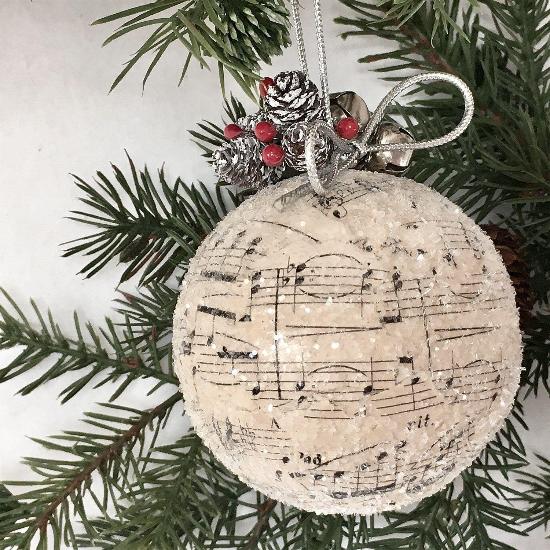 Sheet Music Christmas Ornament Pinecone Music Ornament Etsy Music Christmas Ornaments Music Ornaments Sheet Music Ornaments